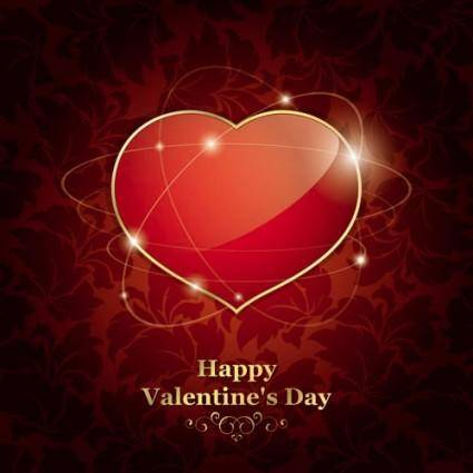 free vector Exquisite valentine background 01 vector
