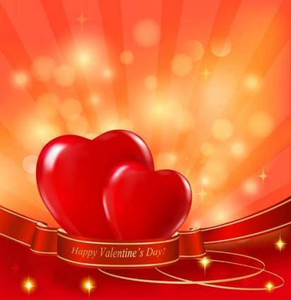 Exquisite valentine background 03 vector