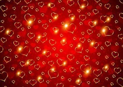 Valentine background 01 vector