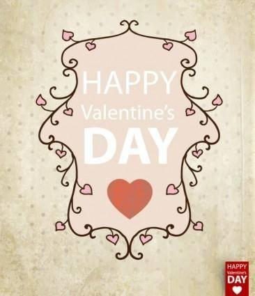 Valentine39s day card background 01 vector