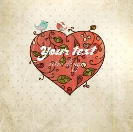 Valentine39s day card background 03 vector