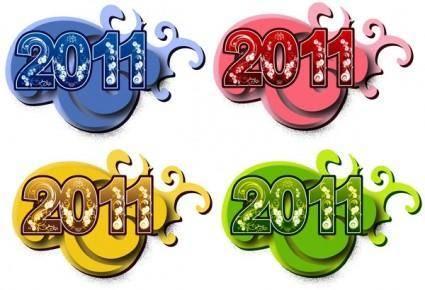 2011 font design vector