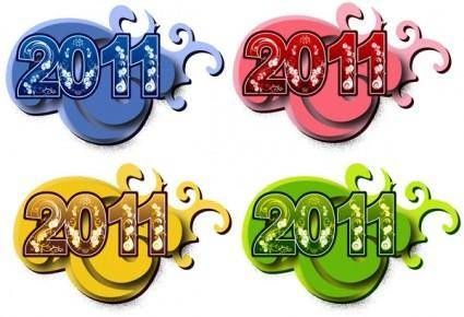 free vector 2011 font design vector