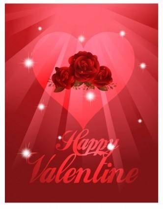 Exquisite valentine background 01 vector