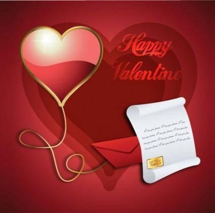 free vector Exquisite valentine background 04 vector