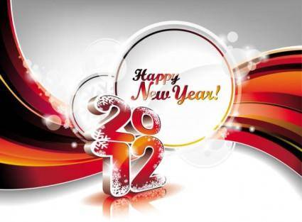2012 font graphic background design 03 vector
