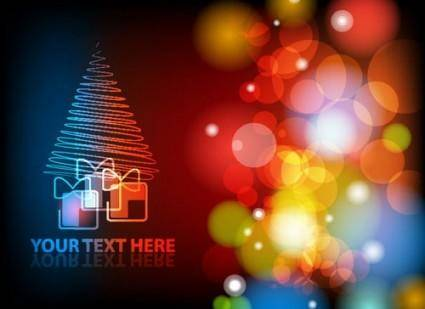 free vector Gorgeous christmas background 03 vector