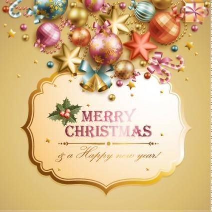 free vector Christmas elements background 05 vector