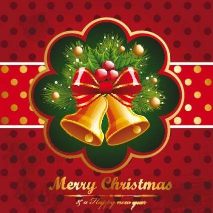 Beautiful christmas background 04 vector