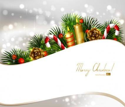 free vector Christmas decoration background 03 vector