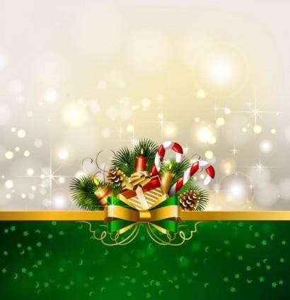 Christmas decoration background 01 vector