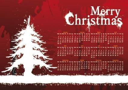 Christmas day background calendar 01 vector