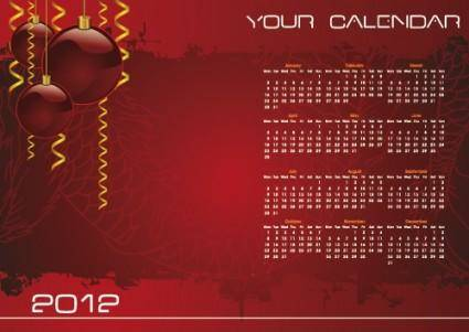 free vector Christmas day background calendar 02 vector