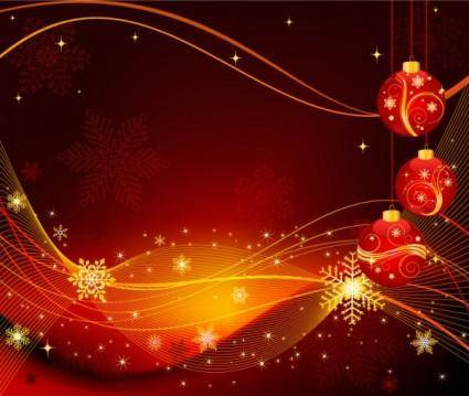 The exquisite christmas ball background 02 vector