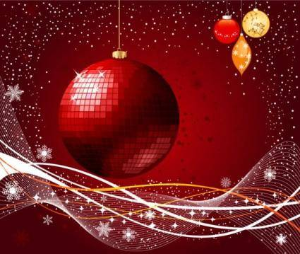 free vector The exquisite christmas ball background 03 vector