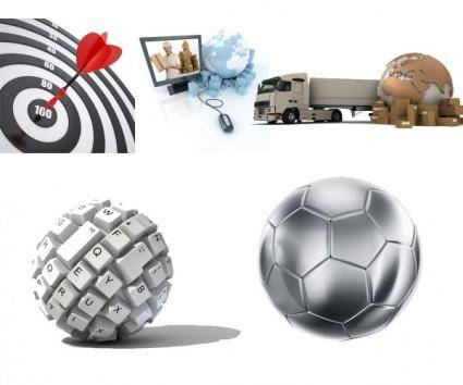 free vector Earth 3d soccer ball highdefinition picture