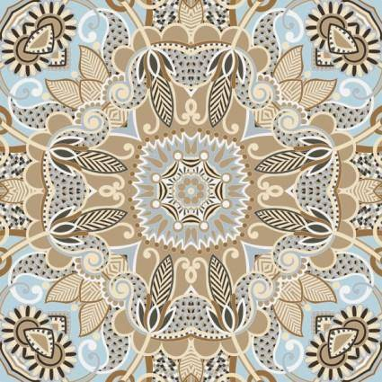 free vector The retro classic pattern background 04 vector