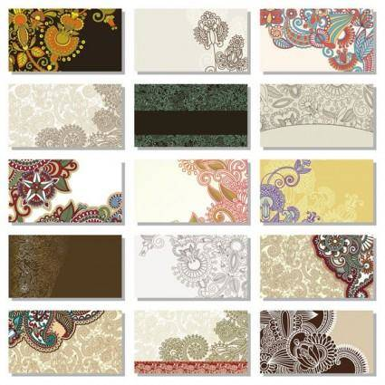 Beautiful pattern card background vector 2