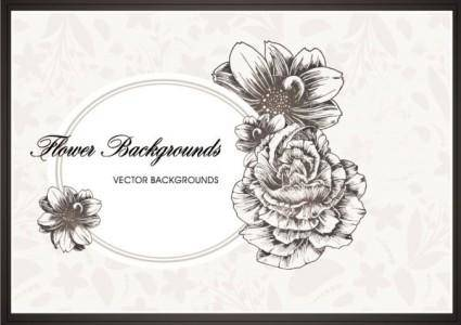 free vector Line art pattern background 01 vector