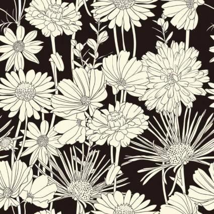 free vector Exquisite blackandwhite line art background 03 vector