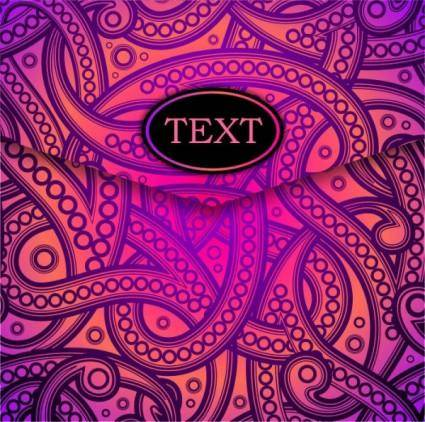 Dazzling pattern background 02 vector