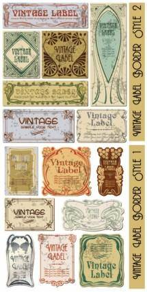 Elegant europeanstyle label vector
