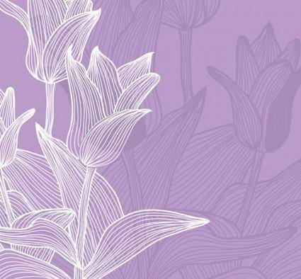 free vector The tulips background vector