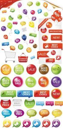 Fine supermarket labels vector