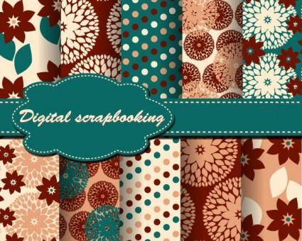Beautiful wove background vector 5