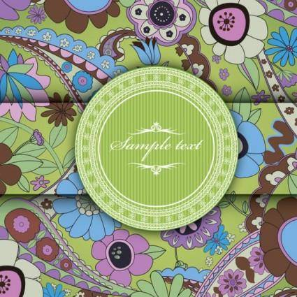 free vector European pattern background cover 03 vector