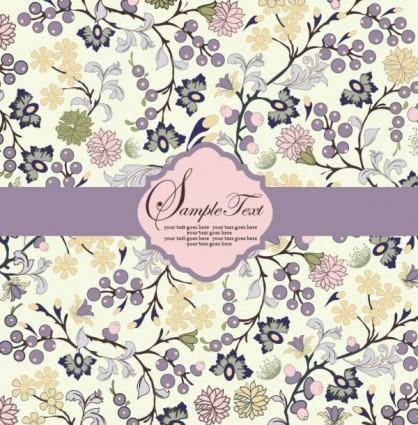 free vector Pattern background card 03 vector