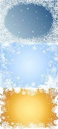 free vector Beautiful snowflake photo frame vector