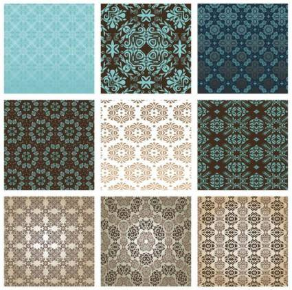 free vector The exquisite pattern background pattern 01 vector