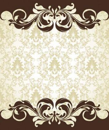 free vector European pattern background 06 vector