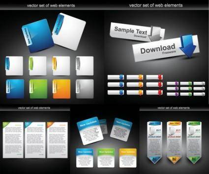 Web design module button vector