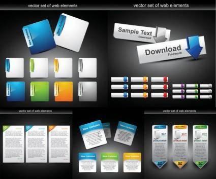 free vector Web design module button vector