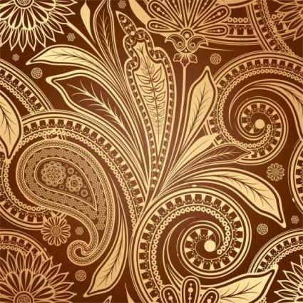 European fine pattern background 04 vector