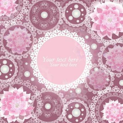 Pattern background 02 vector 15207
