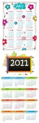 Lovely 2011 calendar vector