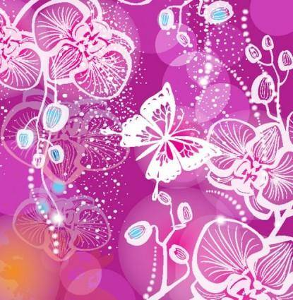 free vector Gorgeous pattern background 01 vector