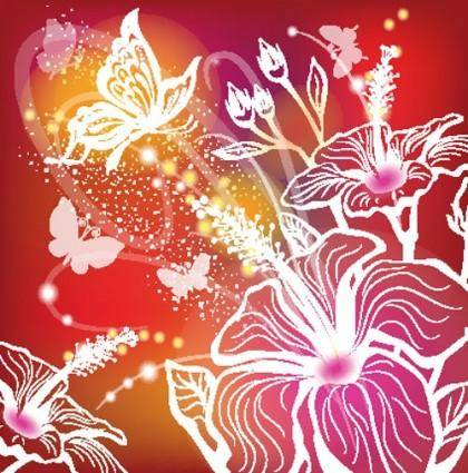 Gorgeous pattern background 02 vector