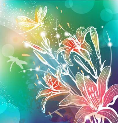 Gorgeous pattern background 03 vector