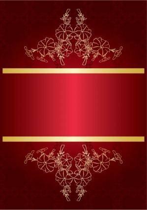 free vector Red gorgeous background 02 vector
