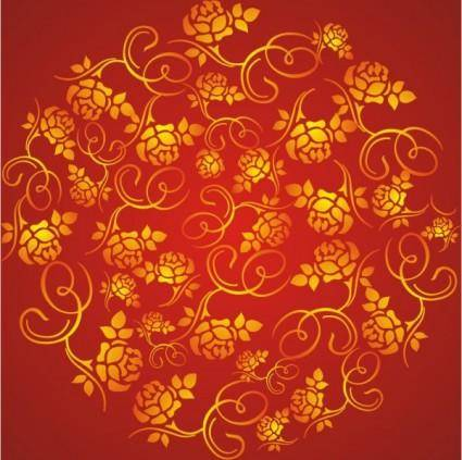 The wealth rose pattern background vector