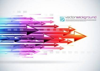 free vector Colorful arrows background vector