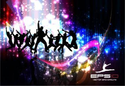 Colorful background dance 15263