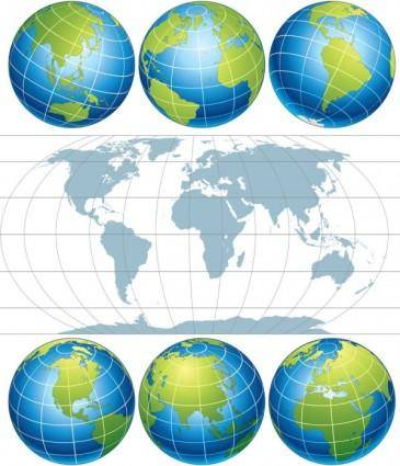 free vector Earth map vector