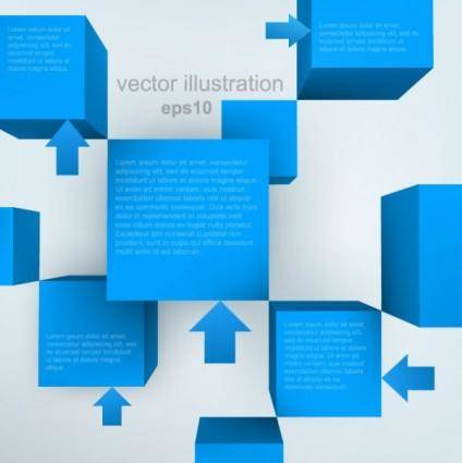 free vector The trend of threedimensional background 01 vector