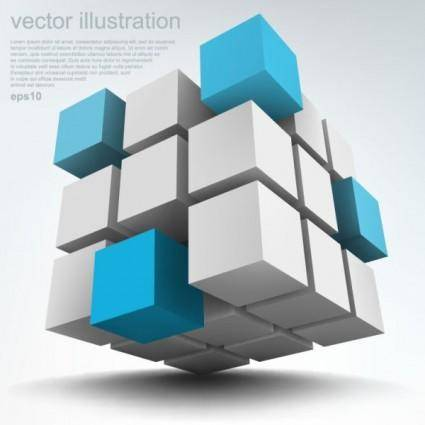 free vector Stereoscopic technology background 04 vector