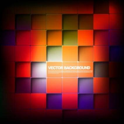 Gorgeous box background 01 vector